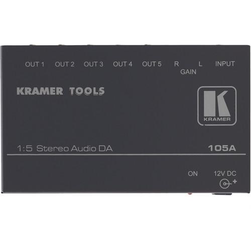 Kramer CVG-105A Distribution Amplifier, 1x5, Stereo Audio, Mini Series