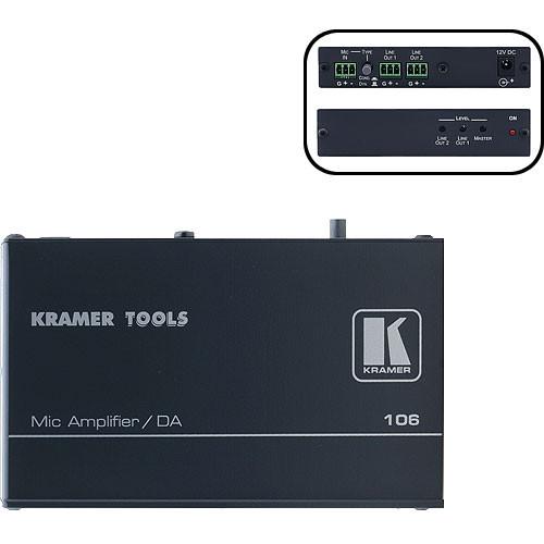 Kramer 106 1:2 Microphone Line & Distribution Amplifier