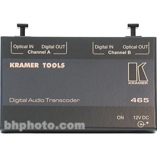 Kramer 465 Bi-directional Optical to AES/EBU Audio Converter