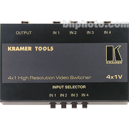 Kramer 4X1V Mechanical Video Switcher, 4x1, (RCA)