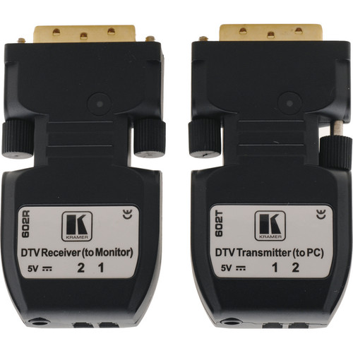 Kramer 602R/T Detachable DVI Optical Transmitter & Receiver Pair