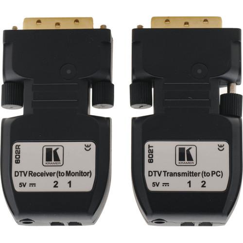 Kramer 602R/T Detachable DVI Optical Transmitter & Receiver Pair