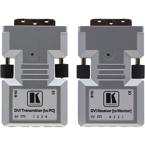 Kramer 610R/T Detachable DVI Optical Transmitter & Receiver Pair