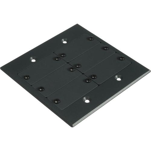 Kramer Two-Gang Frame for Wall Plate Inserts (Black)