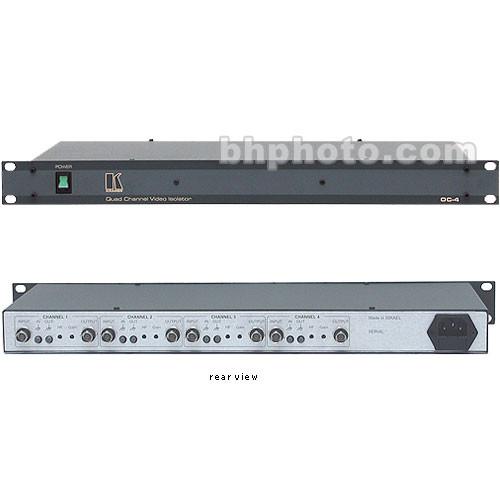 Kramer OC-4 Quad Channel Video Optical Line Isolator - 120 VAC, Composite BNC
