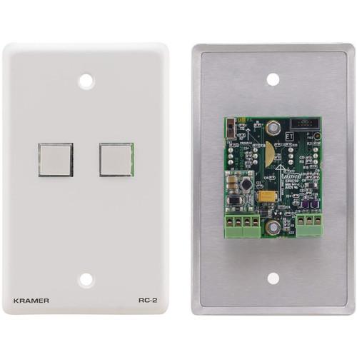 Kramer RC-2(W) 2-Button Control Keypad