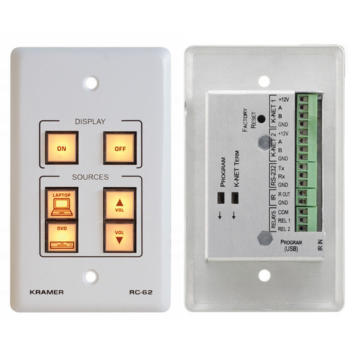 Kramer RC-62 Room Controller with Printed Group Labels (US Model)