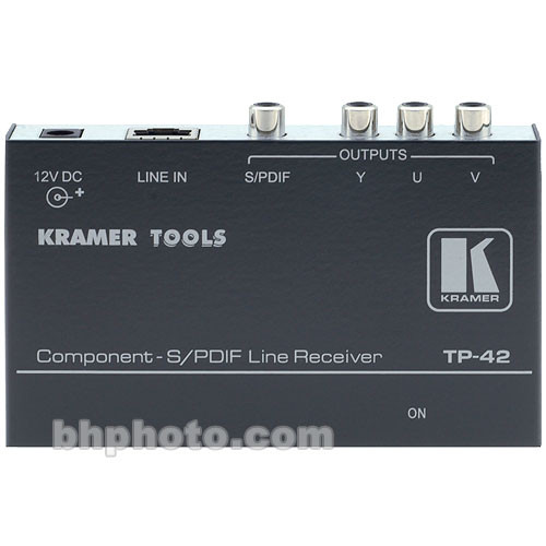 Kramer TP42 Component Video & S/PDIF Audio Long-Range Receiver Over Cable