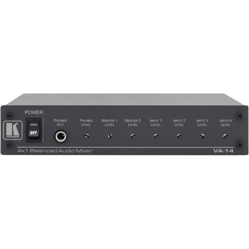 Kramer VA-14 4 x 2 Balanced Audio Mixer