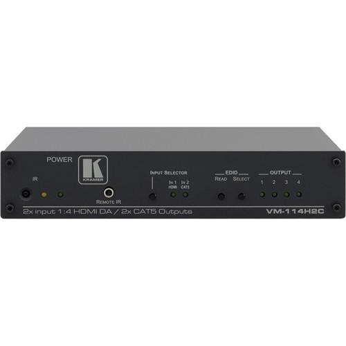 Kramer VM-114H2C 2 x 1:4 HDMI / DGKat Switcher & Distribution Amplifier