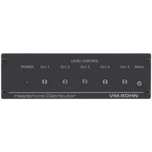 kramer 1 5 stereo headphone distribution amplifier vm 50hn b h. Black Bedroom Furniture Sets. Home Design Ideas