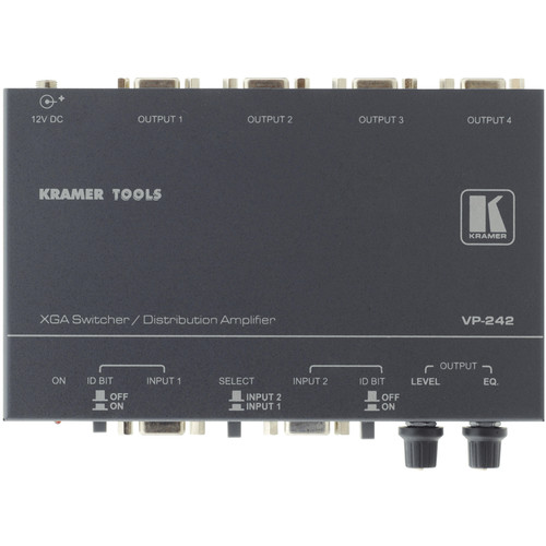 Kramer VP-242 2x1 XGA Switcher, 1x4 DA