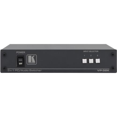 Kramer Computer Graphics Video & Stereo Audio Switcher (3x1:2)