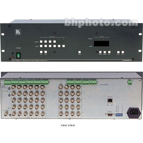 Kramer VP-64ETH 6x4 RGBHV & Balanced Stereo Audio Switcher