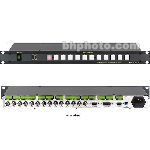 Kramer VS-1211 12x1 Vertical Interval Audio/Video Switcher