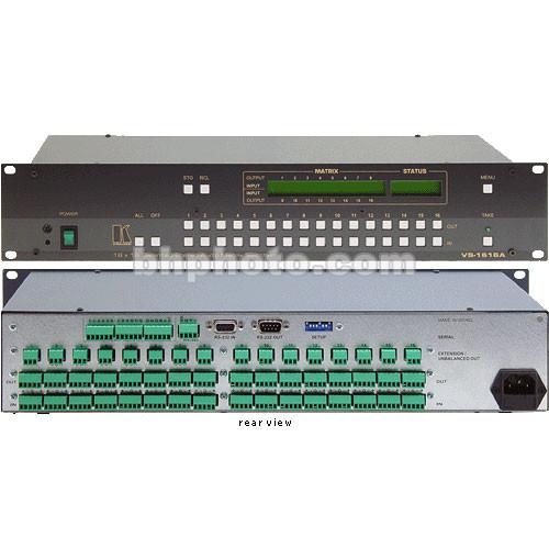 Kramer VS-1616A 16x16 Balanced Stereo Switcher