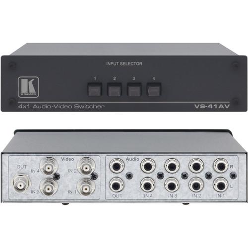 Kramer VS-41AV 4x1 Composite Video & Stereo Audio Switcher