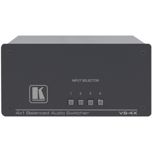 Kramer VS-4X 4x1 Balanced Stereo Audio Switcher (XLR)