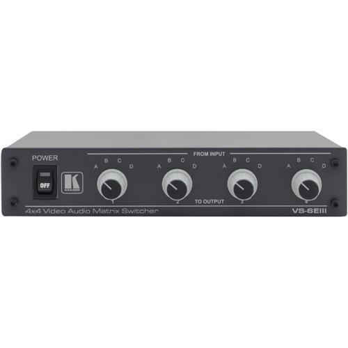 Kramer VS-6EIII 4x4 Composite Video & Stereo Audio Matrix Switcher