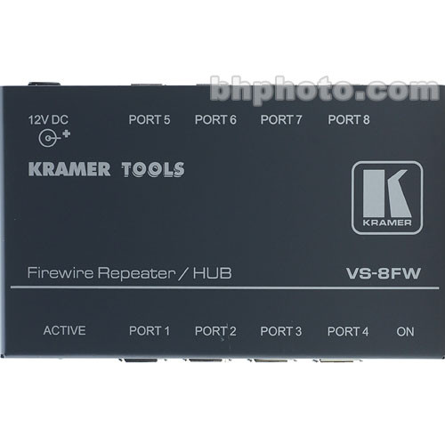 Kramer VS8FW 8-Port FireWire-400 Repeater/Hub