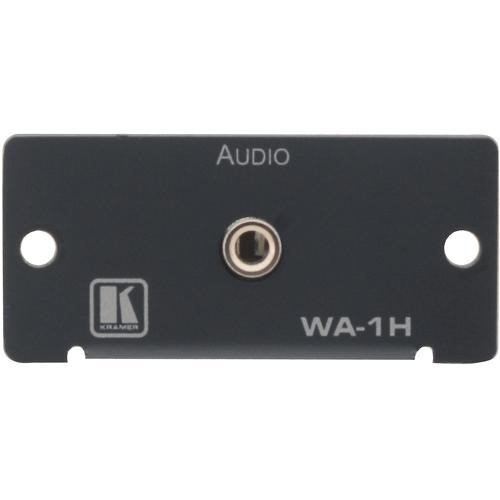 Kramer 3.5mm Stereo Audio to Terminal Block Wall Plate Insert (Black)