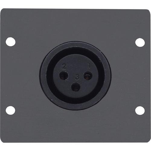 Kramer Three-Pin XLR Female Wall Plate Insert (Black)