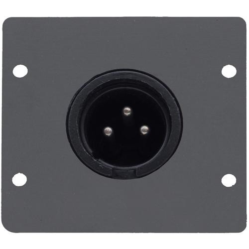 Kramer Three-Pin XLR Male Wall Plate Insert (Black)