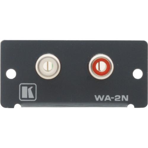 Kramer WA-2N Dual RCA Stereo Audio Wall Plate Insert