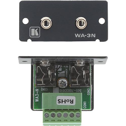 Kramer WA-3N Dual 3.5mm Stereo Audio Wall Plate Insert (Black)