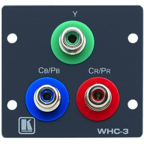 Kramer WHC-3 Wall Plate Insert - 3 RCA (Gray)