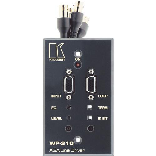 Kramer Dual HD-15 (VGA) Line Driver Wall Plate w/5 BNC Outputs (White)