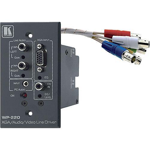 Kramer Computer Graphics & Video Line Amp w/Audio & Wall Plate (Gray)