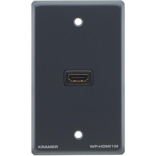 Kramer WP-HDMI1M Passive Wall Plate (Gray)