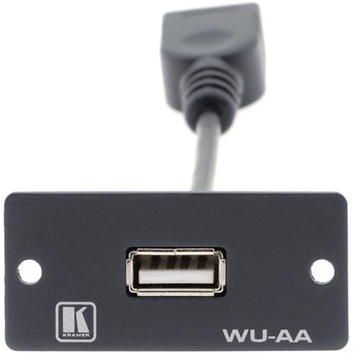 Kramer USB Pigtail Wall Plate Insert (Black)