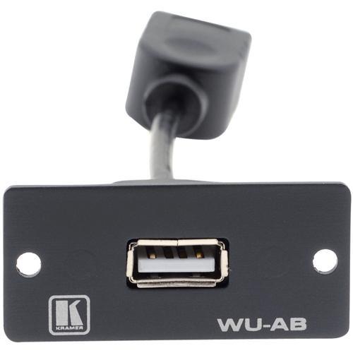 Kramer WU-AB USB Wall Plate Insert (Gray)