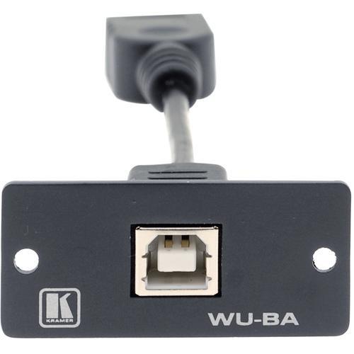 Kramer WU-BA USB Wall Plate Insert (Black)