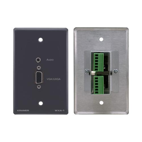 Kramer 15-Pin Sub-D HD & Mini Plug Audio Input to Terminal Block Adapter - Wall Plate Insert (White)