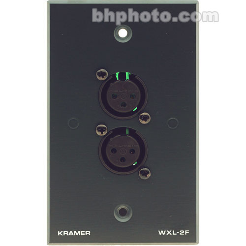 Kramer WXL-2F Passive Wall Plate with Two Female 3-Pin XLR Connectors