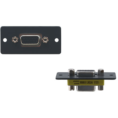 Kramer 15-Pin Sub-D HD Female to 15-Pin Sub-D HD Male Wall Plate Insert (Black)