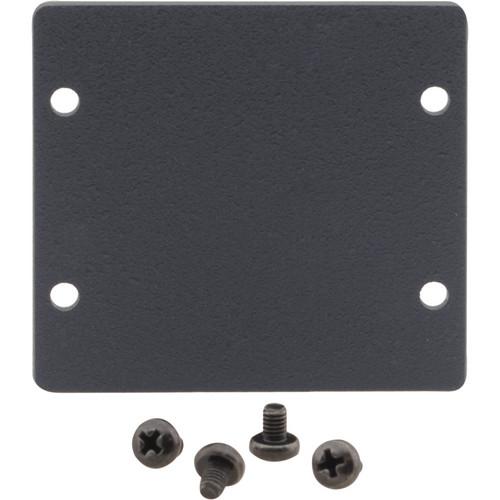 Kramer Double Insert Blank Slot Cover Plate (Black)