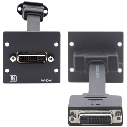 Kramer W-DVI Dual-Slot Wall Plate Insert with Female DVI-I (Black)