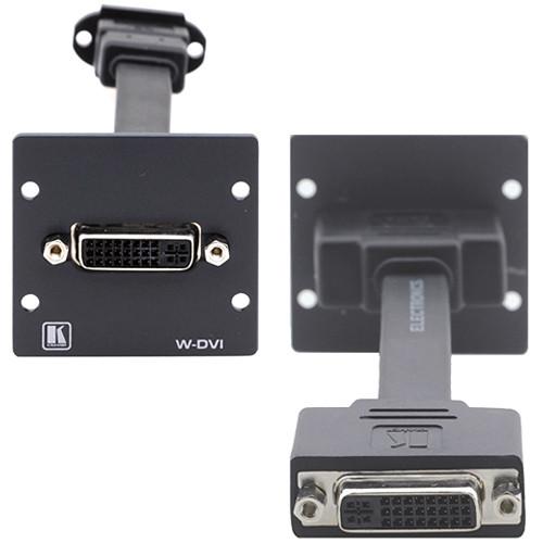 Kramer W-DVI Dual-Slot Wall Plate Insert with Female DVI-I (Black)