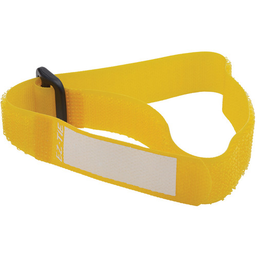 """Kupo EZ-TIE Deluxe Cable Ties - 0.78 x 16.1"""" (10-Pack, Yellow)"""