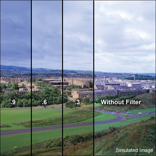 """LEE Filters 4x6"""" Combination Graduated 81EF to Neutral Density (ND) 0.3 Resin Filter - Hard Edge"""