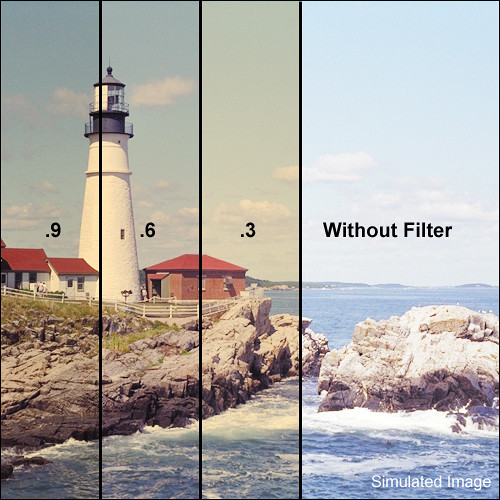 """LEE Filters 4x4"""" Combination 85B Amber / ND 0.9 Polyester Filter"""
