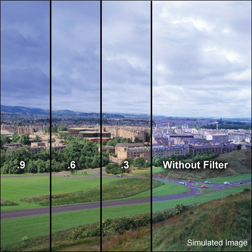 """LEE Filters 4x6"""" Combination Graduated 85B to Neutral Density (ND) 0.3 Resin Filter - Hard Edge"""