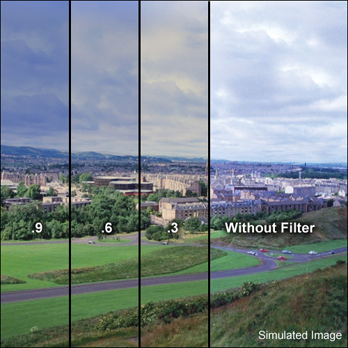 """LEE Filters 4x6"""" Combination Graduated 85 to Neutral Density (ND) 0.3 Resin Filter - Hard Edge"""