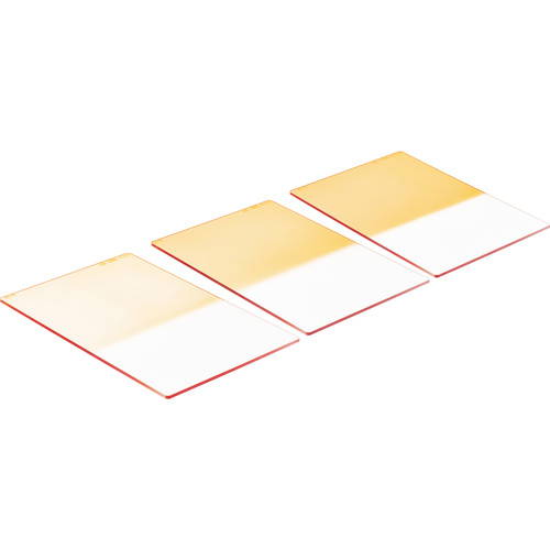 """LEE Filters 4x6"""" Coral Graduated Resin Filter Set (2, 4 & 6) Hard Edge"""