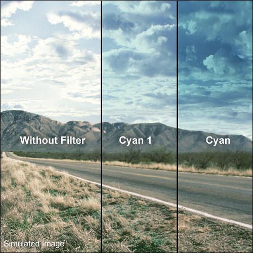 LEE Filters 100 x 150mm Hard-Edge Graduated Cyan 1 Filter