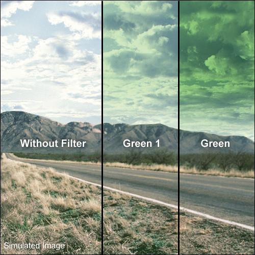 LEE Filters 100 x 150mm Hard-Edge Graduated Green 1 Filter